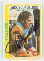 Jack Youngblood AUTOGRAPH 1978 Topps Football #265 Rams HOF '01 CARD IS CLEAN EX