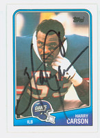 Harry Carson AUTOGRAPH 1988 Topps Football #284 Giants HOF '06 