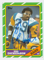 Eric Dickerson AUTOGRAPH 1986 Topps Football #78 Rams JSA AUTH Sticker on Reverse HOF '99 