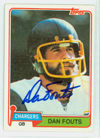 Dan Fouts AUTOGRAPH 1981 Topps Football #265 Chargers HOF '93 CARD IS CLEAN EX