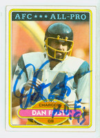 Dan Fouts AUTOGRAPH 1980 Topps Football #520 Chargers HOF '93 CARD IS CLEAN VG/EX; LT CRN WEAR
