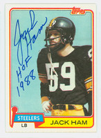 Jack Ham AUTOGRAPH 1981 Topps Football #235 Steelers HOF '88 CARD IS SHARP EXMT