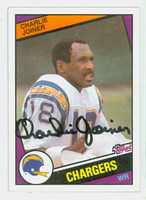 Charlie Joiner AUTOGRAPH 1984 Topps Football #181 Chargers HOF '96 CARD IS SHARP EXMT