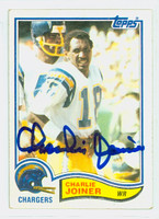 Charlie Joiner AUTOGRAPH 1982 Topps Football #233 Chargers HOF '96 CARD IS G/VG; SL BEND
