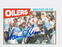 Warren Moon AUTOGRAPH 1987 Topps Football Oilers HOF '06 