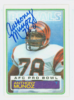 Anthony Munoz AUTOGRAPH 1983 Topps Football #240 Bengals 