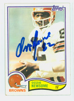 Ozzie Newsome AUTOGRAPH 1982 Topps Football Browns HOF '99 