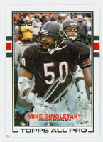 Mike Singletary AUTOGRAPH 1989 Topps Football #58 Bears HOF '98 