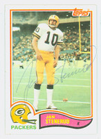 Jan Stenerud AUTOGRAPH 1982 Topps Football #366 Packers HOF '91 CARD IS CLEAN EX
