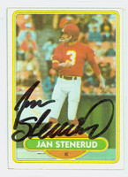 Jan Stenerud AUTOGRAPH 1980 Topps Football #266 Chiefs HOF '91 CARD IS CLEAN EX