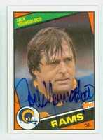 Jack Youngblood AUTOGRAPH 1984 Topps Football #287 Rams HOF '01 