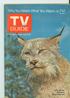 1971 TV Guide July 24 Lefty the Lynx Western Illinois edition Very Good to Excellent - No Mailing Label  [Lt wear on cover, contents fine]