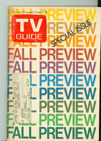 1972 TV Guide Sep 9 Fall Preview Northern Illinois edition Excellent to Mint  [Lt wear on cover, contents fine]