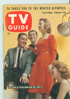1960 TV Guide Feb 13 Cast of Peter Gunn and Mr Lucky Nebraska edition Excellent - No Mailing Label  [Lt wear along binding; contents fine]