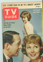 1964 TV Guide Aug 29 Patty Duke Eastern New England edition Very Good to Excellent - No Mailing Label  [Lt wear along binding; ow clean]