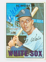 Al Weis AUTOGRAPH 1967 Topps #556 White Sox HIGH NUMBER CARD IS F/P; HEAVY CRN CREASE, AUTO CLEAN