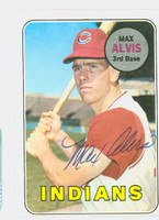 Max Alvis AUTOGRAPH 1969 Topps #145 Indians CARD IS CLEAN EX