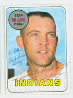 Stan Williams AUTOGRAPH 1969 Topps #118 Indians CARD IS CLEAN EX/MT