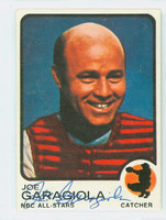 Joe Garagiola AUTOGRAPH NBC All-Stars Collector Card 1973 Topps Design Cardinals 