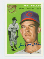 Jim Willis AUTOGRAPH Topps 1954 Archives Cubs   [SKU:WillJ5614_T54BBRP]