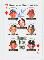 Bobby Bragan AUTOGRAPH d.10 Diamonds in the Rough Bragan Brothers card Dodgers 