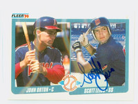 Scott Leius AUTOGRAPH 1990 Fleer Twins 