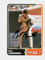 Kurt Ainsworth AUTOGRAPH 2003 Topps Total Giants 