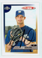 Doug Davis AUTOGRAPH 2005 Topps Total Brewers 