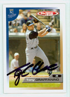 Tony Graffanino AUTOGRAPH 2005 Topps Total Royals 