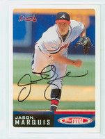 Jason Marquis AUTOGRAPH 2002 Topps Total Braves 