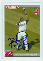 Brandon Phillips AUTOGRAPH 2004 Topps Total Indians 