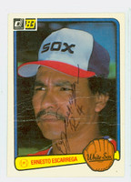 Ernesto Escarrega AUTOGRAPH 1983 Donruss #291 White Sox CARD IS POOR, HEAVY CREASES