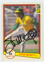 Steve McCatty AUTOGRAPH 1982 Donruss #35 Athletics 