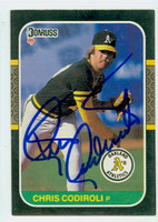Chris Codiroli AUTOGRAPH 1987 Donruss Athletics 