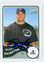 Scott Hairston AUTOGRAPH Bazooka Dbacks 