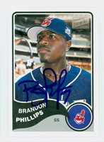 Brandon Phillips AUTOGRAPH Bazooka Indians 