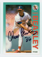 Chris Beasley AUTOGRAPH 1992 Fleer Angels 