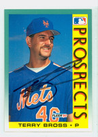 Terry Bross AUTOGRAPH 1992 Fleer Mets 