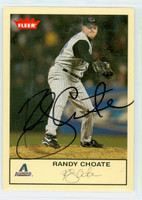 Randy Choate AUTOGRAPH 2005 Fleer Dbacks 