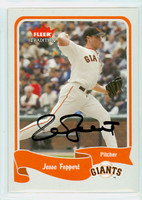 Jesse Foppert AUTOGRAPH 2004 Fleer Tradition Giants 