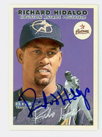 Richard Hidalgo AUTOGRAPH 2000 Fleer Tradition Astros 