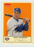 Nick Johnson AUTOGRAPH 2005 Fleer Expos 