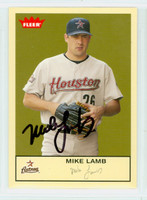 Mike Lamb AUTOGRAPH 2005 Fleer Astros 
