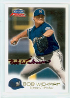 Bob Wickman AUTOGRAPH 2000 Fleer Focus Brewers 