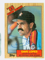 Dave Lopes AUTOGRAPH 1987 Topps #4 Highlight 