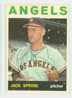 Jack Spring AUTOGRAPH d.15 1964 Topps #71 Angels CARD IS CLEAN EX