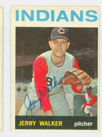 Jerry Walker AUTOGRAPH 1964 Topps #77 Indians CARD IS VG; AUTO CLEAN