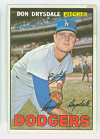 1967 Topps Baseball 55 Don Drysdale Los Angeles Dodgers Fair to Good