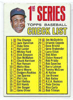 1967 Topps Baseball 62 Checklist One Baltimore Orioles Fair to Poor