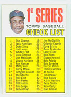 1967 Topps Baseball 62 Checklist One Baltimore Orioles Excellent